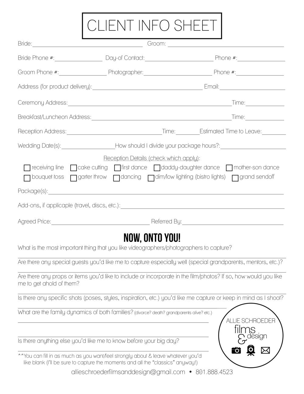 Client Info Sheet WEBSITE (Wedding - UPDATED 2015)