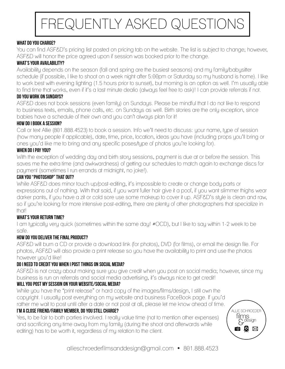 FAQS WEBSITE (April 2016)