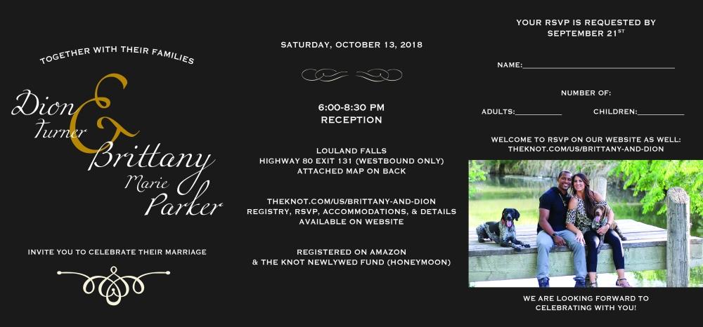 Dion + Brittany Wedding Invite Design 20183